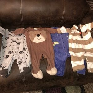Baby Boys One piece outfits lot of 4 Size 3/6M